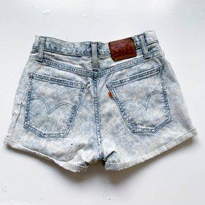 Levi's vintage Orange Tab Acid Wash Denim Shorts